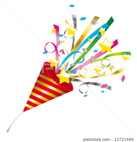 confetti ticker tape party popper   stock illustration