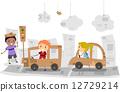 child, boy, cartoon 12729214