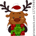 reindeer xmas vector 12729484