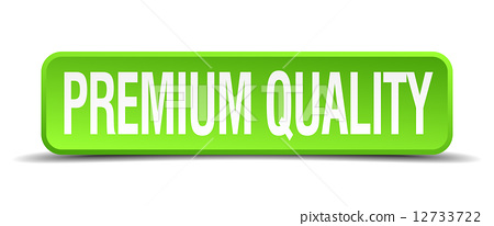 premium quality green 3d realistic square isolated button 12733722