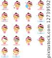 vector, vectors, facial 12739592