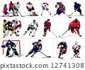 冰球 曲棍球 矢量 12741308