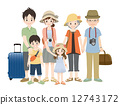 가족, 여행, 인물 12743172