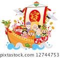 藏寶船 七福神 通體 12744753