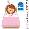 수면 부족 여성 불면증 수면 부족 [등신 시리즈] 12745735