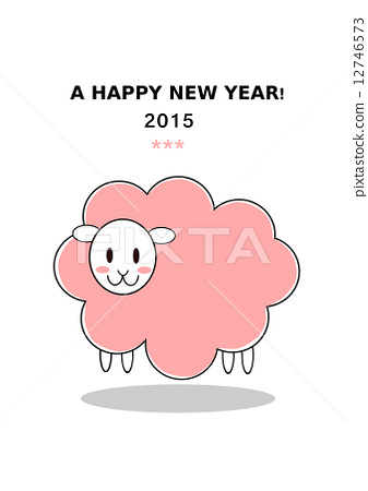 new year year of the sheep new years card 12746573