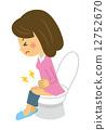 화장실의 여성 12752670