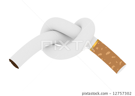 Cigarette tied to a knot 12757302