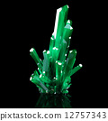 3d, green, crystal 12757343