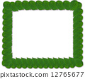 Green square frame from leaves 12765677