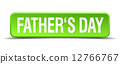 fathers day green 3d realistic square isolated button 12766767