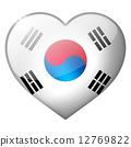 south korea heart button 12769822