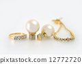 diamond, earring, gold 12772720