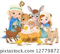 Holy Family at Christmas night 12779872
