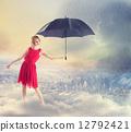 umbrella, women, woman 12792421
