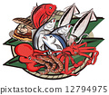 seafood, fruits of the sea, crab 12794975