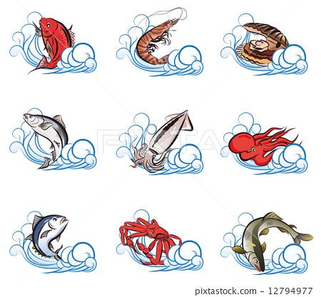 海鮮 水果海洋 海產品 12794977
