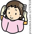 染髮劑 矢量 女士 12797818