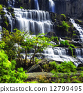 Tropical landscape with flowing Pongour waterfall. Da Lat, Vietnam 12799495
