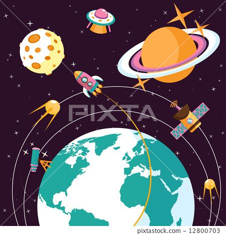 Space flat illustration 12800703