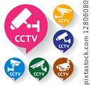 cctv, camera, bubble 12806080