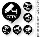 cctv, camera, bubble 12806084