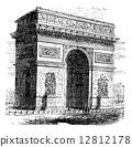 engraved, black, antique 12812178