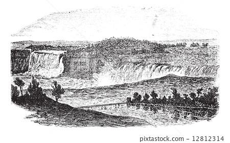 Niagara Falls in Toronto, Ontario, Canada and Buffalo, New York, 12812314