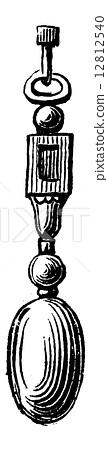 Stalagmite, vintage engraving 12812540