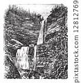 Catskill or Kaaterskill Falls vintage engraving 12812769