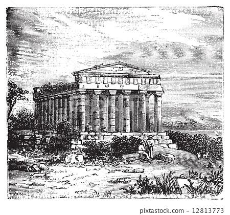 Temple of Concord, Templum Concordiae, in Agrigente, Rome, Italy 12813773