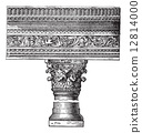 engraving, vintage, pillar 12814000