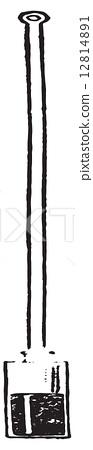 Stock Illustration: Graham pendulum, vintage engraving.