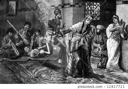 A wedding in the Caucasus. This dance was something strange thin 12817721