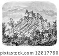 engraved, black, antique 12817790