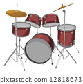 Vector of drum set. 12818673