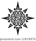 Mayan or Incan symbol of a sun or star 12818974