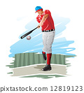 Baseball player, illustration 12819123