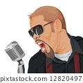 Vector of singer performing. 12820497