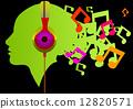listening, music, illustration 12820571