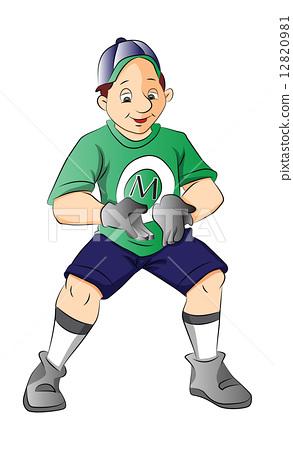 Baseball Player, illustration 12820981