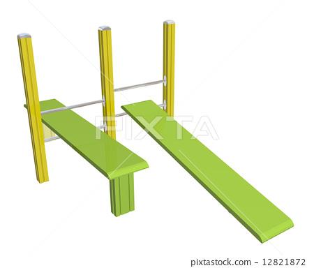 Sit-up boards, 3D illustration 12821872