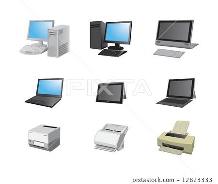 vector, vectors, laptop 12823333