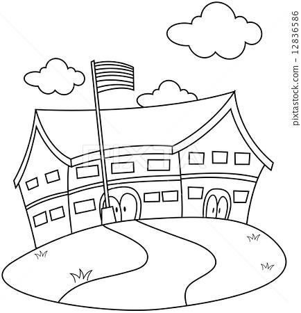 Line Art School 12836586
