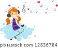 耳機 女性 女 12836784