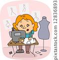 Seamstress 12836893