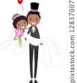 drawing bride wedding 12837007