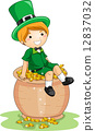 Boy Sitting on a Pot of Gold 12837032