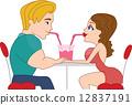dating, vector, man 12837191