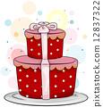 Gift-shaped Cake 12837322